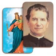 "St.John Bosco/ Madonna 3D Bi-Dimensional Cards cm.5.5x8.2- 2 1/8""x 3 1/4"""