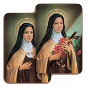 "St.Theresa 3D Bi-Dimensional Cards cm.5.5x8.2- 2 1/8""x 3 1/4"""