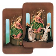 "Our Lady of Pompei 3D Bi-Dimensional Cards cm.5.5x8.2- 2 1/8""x 3 1/4"""