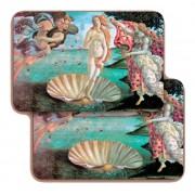 "Birth of Venere (Botticelli) 3D Bi-Dimensional Cards cm.5.5x8.2- 2 1/8""x 3 1/4"""