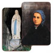 """Our Lady of Lourdes 3D Bi-Dimensional Cards cm.5.5x8.2- 2 1/8""""x 3 1/4"""""""