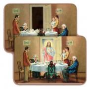 """Jesus in Family 3D Bi-Dimensional Cards cm.5.5x8.2- 2 1/8""""x 3 1/4"""""""