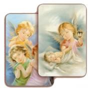 "Guardian Angel 3D Bi-Dimensional Cards cm.5.5x8.2- 2 1/8""x 3 1/4"""