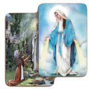 "Lourdes/ Immaculate 3D Bi-Dimensional Cards cm.5.5x8.2- 2 1/8""x 3 1/4"""