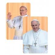 "Pope Francis/ Pope John Paul II 3D Bi-Dimensional Cards cm.5.5x8.2- 2 1/8""x 3 1/4"""