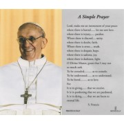 "Pope Francis Laminated Prayer Card English cm.7x12- 2 3/4""x 4 3/4"""