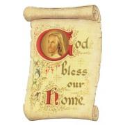 """God Bless our Home Fridge Magnet cm.5x8- 2""""x 3 1/4"""""""