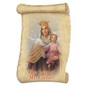 """Our Lady Mt Carmel Fridge Magnet cm.5x8- 2""""x 3 1/4"""""""