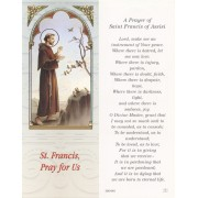 """Prayer of St.Francis of Assisi Bookmark cm.6x15.5- 2 1/2""""x 6 1/8"""""""