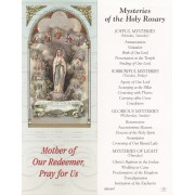 """Mysteries of the Holy Rosary Bookmark cm.6x15.5- 2 1/2""""x 6 1/8"""""""