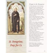 "Prayer to St.Peregrine Bookmark cm.6x15.5- 2 1/2""x 6 1/8"""