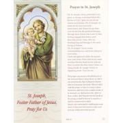 "Prayer to St.Joseph Bookmark cm.6x15.5- 2 1/2""x 6 1/8"""