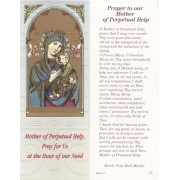 """Our Mother of Perpetual Help Bookmark cm.6x15.5- 2 1/2""""x 6 1/8"""""""