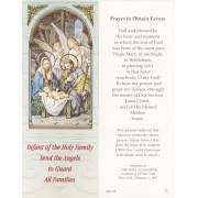 """Holy Family Prayer to Obtain Favours Bookmark cm.6x15.5- 2 1/2""""x 6 1/8"""""""