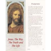 "Jesus/ Footprints Bookmark cm.6x15.5- 2 1/2""x 6 1/8"""