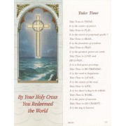 "Holy Cross/ Take Time Bookmark cm.6x15.5- 2 1/2""x 6 1/8"""