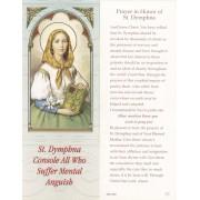 "Prayer in Honour of St.Dymphna Bookmark cm.6x15.5- 2 1/2""x 6 1/8"""
