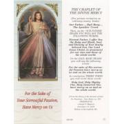 "Chaplet of the Divine Mercy Bookmark cm.6x15.5- 2 1/2""x 6 1/8"""
