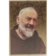 """Padre Pio Plaque cm.15.5x10.5 - 6""""x4"""""""