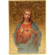 "Sacred Heart of Jesus Plaque cm.15.5x10.5 - 6""x4"""