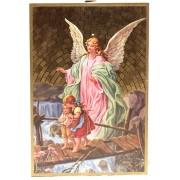 """Guardian Angel Plaque cm.15.5x10.5 - 6""""x4"""""""