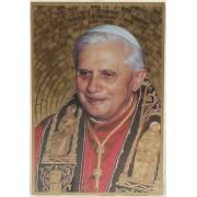 """Pope Benedict Plaque cm.15.5x10.5 - 6""""x4"""""""