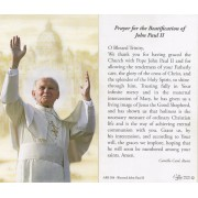 "Holy card of the Pope John Paul II with Beatification Prayer in English cm.7x12- 2 3/4""x 4 3/4"""