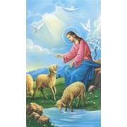 "Holy card of Jesus the Shepherd cm.7x12- 2 3/4""x 4 3/4"""