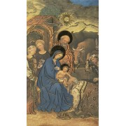"""Holy card of the Nativity with Gold Foil cm.7x12- 2 3/4""""x 4 3/4"""""""