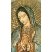 "Holy card of Our Lady of Guadalupe cm.7x12- 2 3/4""x 4 3/4"""