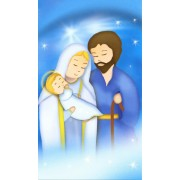 """Holy card of the Holy Family animated cm.7x12- 2 3/4""""x 4 3/4"""""""