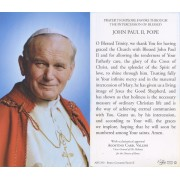 "Holy card of Pope John Paul II with Prayer in English cm.7x12- 2 3/4""x 4 3/4"""