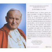 "Holy card of Pope John Paul II with Prayer in Spanish cm.7x12- 2 3/4""x 4 3/4"""
