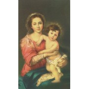 """Holy card of Mother and Child cm.7x12- 2 3/4""""x 4 3/4"""""""
