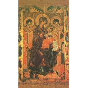 """Holy card of Icon Mother and Child cm.7x12- 2 3/4""""x 4 3/4"""""""