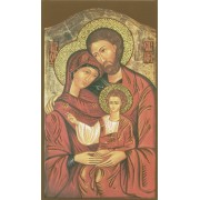 """Holy card of Icon Holy Family cm.7x12- 2 3/4""""x 4 3/4"""""""