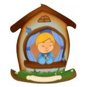 "Child House Shaped Magnet cm.5.5x6.6 - 2 1/4"" - 2 5/8"""