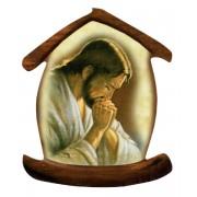 """Aimant avec la prière de Jésus en forme de maison cm.5.5x6.6 - 2 1/4 """"x 2 5/8"""""""