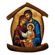 """Imán con forma de casa con el icono de la familia santa cm.5.5x6.6 - 2 1/4 """"x 2 5/8"""""""