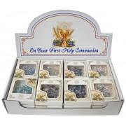 Rosaires de communion dans un affichage avec 24 pièces