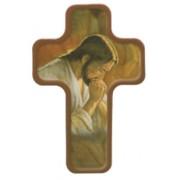 "Jesus Praying Cross Fridge Magnet cm.4x6 - 4 1/4""x 2 1/2"""
