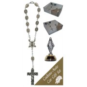 Miraculous Car Statue SCBMC1 with Decade Rosary RD59S-MI