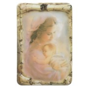 """Mother and Child Scroll Fridge Magnet cm.4x6 - 2 1/2""""x 4 1/4"""""""