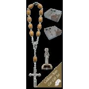 Lourdes Car Statue SCBMC7 with Decade Rosary RDO28