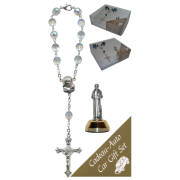 St.Francis Car Statue SCBMC9 with Decade Rosary RD850A-15