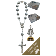 Infant of Prague Car Statue SCBMC12 with Decade Rosary RD1480S