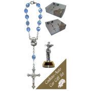 St.Francis Car Statue SCBMC13 with Decade Rosary RD850-11