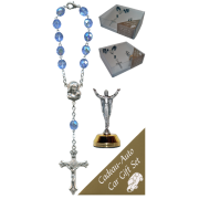The Resurrection Car Statue SCBMC16 with Decade Rosary RD850-11