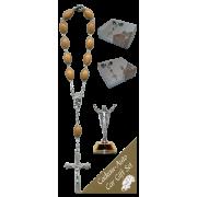 The Resurrection Car Statue SCBMC16 with Decade Rosary RDO28
