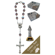 St.Francis Car Statue SCBMC17 with Decade Rosary RD850A-16